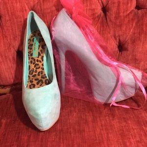 Alba Mint Leopard Stilettos